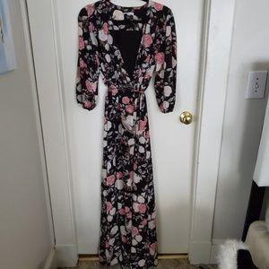 Ny and Co Floral maxi wrap dress